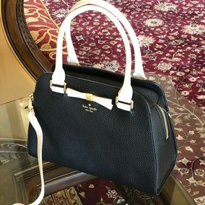 NWT kate spade bow sawyer leather handbag